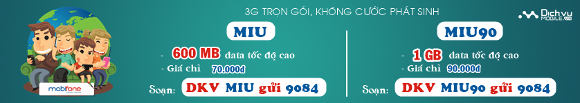 3G trọn gói Mobifone