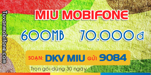 Đăng ký 3G Mobifone chỉ từ 70k